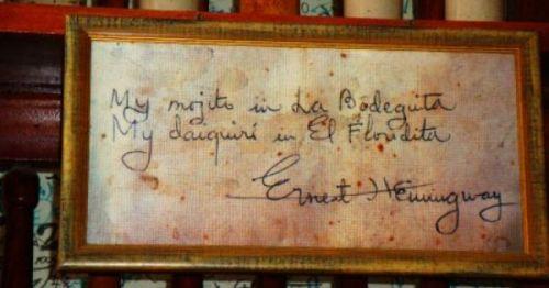 Cartel Bodeguita Hemingway