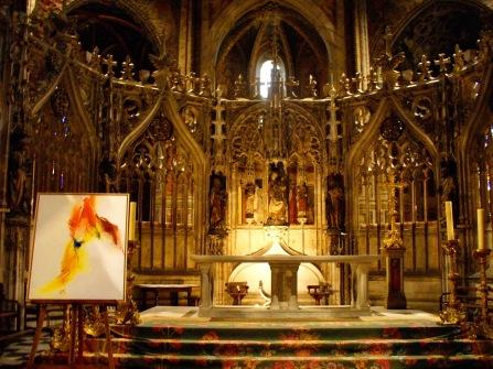 """El """"Jube"""" o clausura del coro, consagrada en 1480."""