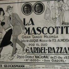 Uno de los discos de Gardel grabados en la Disquera Nacional Odeón.