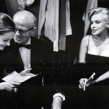 Con Lee Strasberg y su esposa