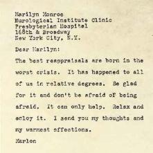 Una carta de Marlon Brando