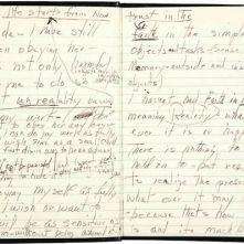 Uno de los diarios de Marilyn
