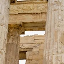 El Partenón construido en en mármol blanco procedente del monte Pentélico.