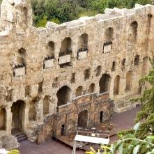 El Ódeon de Heródes Ático construido en el año 161 d.C. durante el dominio romano sobre Grecia.