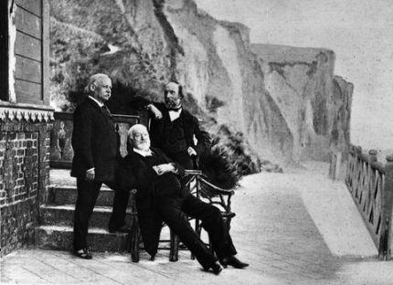 Casi al final de su exilio en 1870.