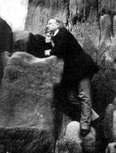 Al principio de su exilio en 1850, en los acantilados de Guernsey.